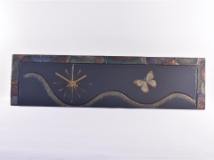 Butterfly theme on slate clock
