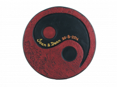 yin yang tealight holder with insrciption