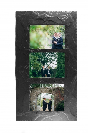 slate triple photo frame