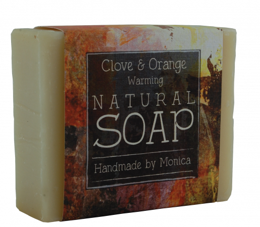 clove and orange handmade natural soap.