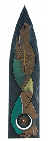 Extra large extra special gothic pendulum slate clock