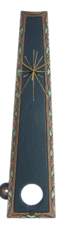 king slate pendulum clock ornate