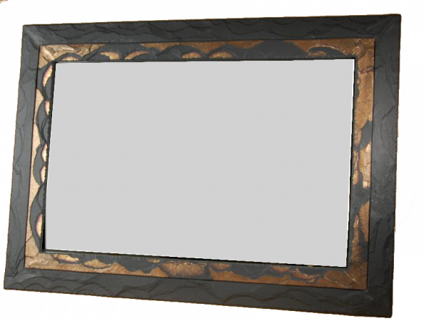 Over Mantel Slate Mirror Extra Large