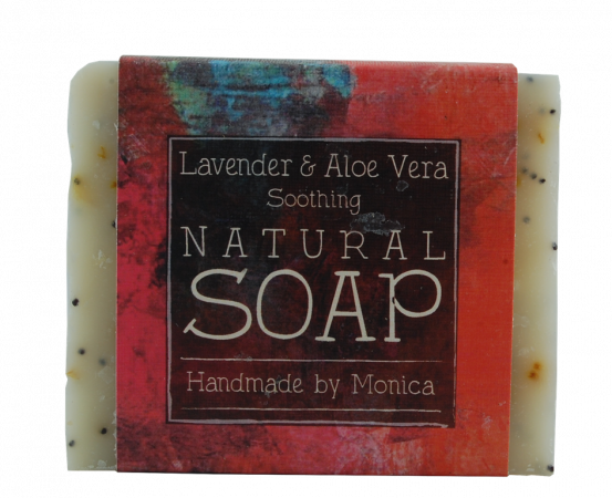 lavender and aloe gel natural handmade soap