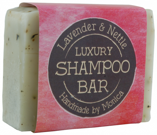 lavender and nettle shampoo bar