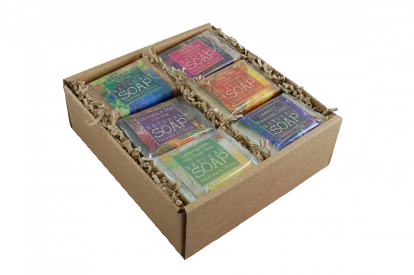 palm free natural soaps in a box