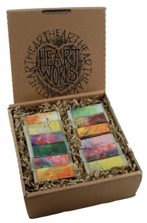 natural handmade soaps in a box