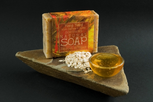 Palm Free Natural Handmade Soap Ylang Ylang, Honey & Oatmeal