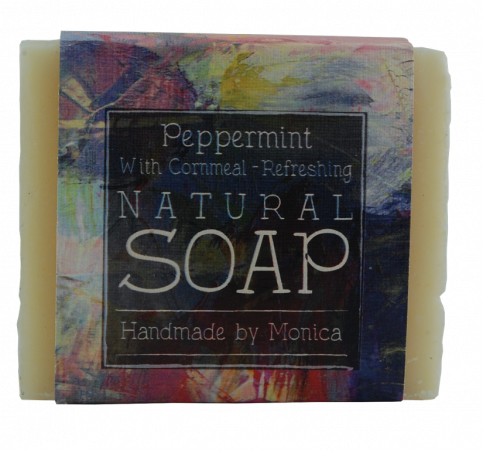 pepper mint handmade natural soap