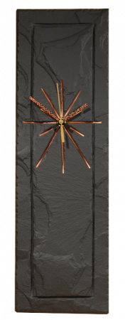 rectangular clock black slate