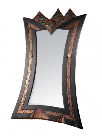 very ornate regal mirror