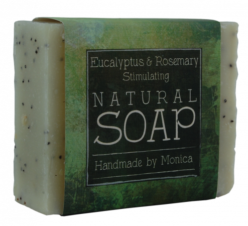 rosemary and eucalyptus handmade natural soap