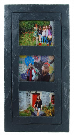 Slate picture frame triple