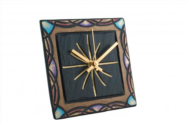 """Square 5"""" clock celtic border"""