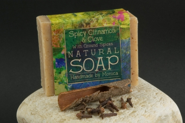 spicy cinnamon and clove natural soap