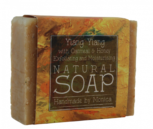 ylang ylang with honey and oatmeal handmade naturarl soap