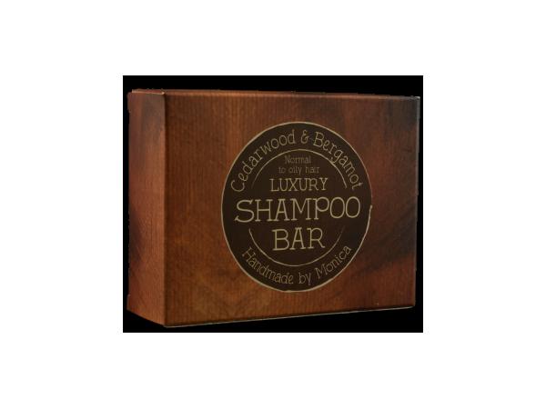 Handmade Natural Shampoo Bar Cedarwood and Bergamot