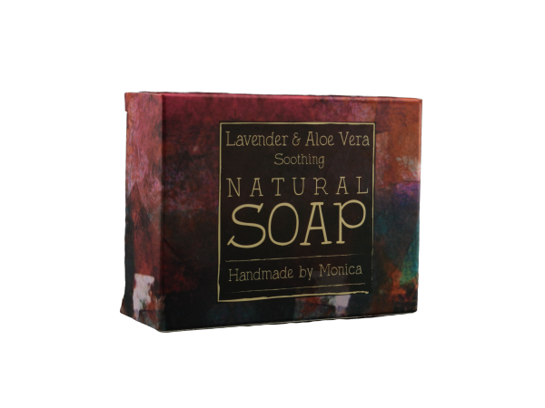 Natural Handmade Soap with Lavender and Aloe Vera
