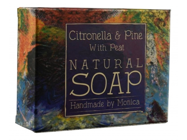 Palm Free Natural Handmade Soap 'Citronella & Pine with Peat'