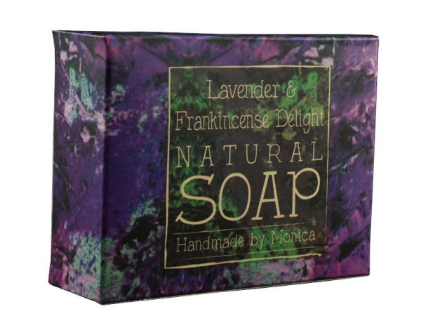 Palm Free Natural Handmade Soap 'Lavender & Frankincense Delight'
