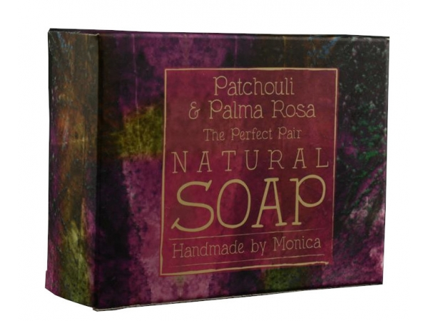 Palm Free Natural Handmade Soap 'Patchouli & Palma Rosa with Rose Clay'