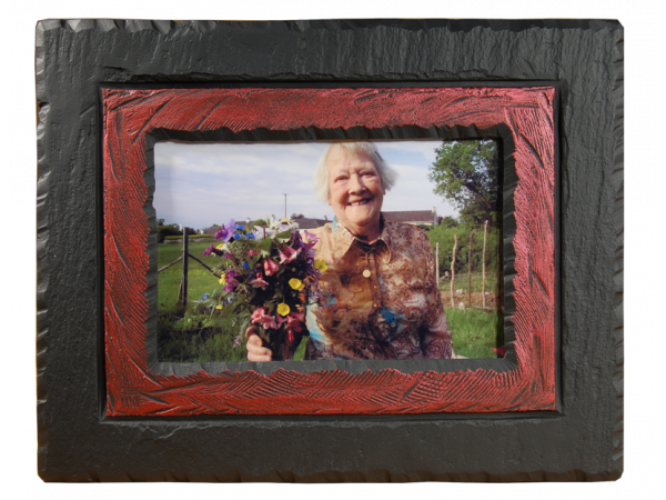 Photo Frame Slate Red Band