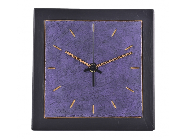 "Slate Clocks 7.5"" Purple Inside"