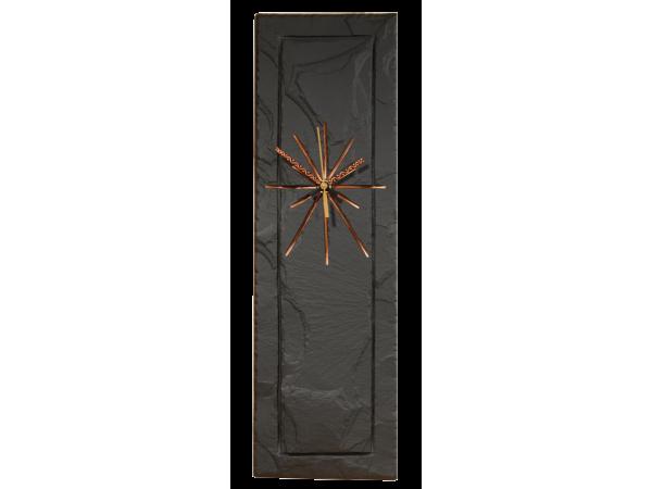 Slate Clock 18x5 Black