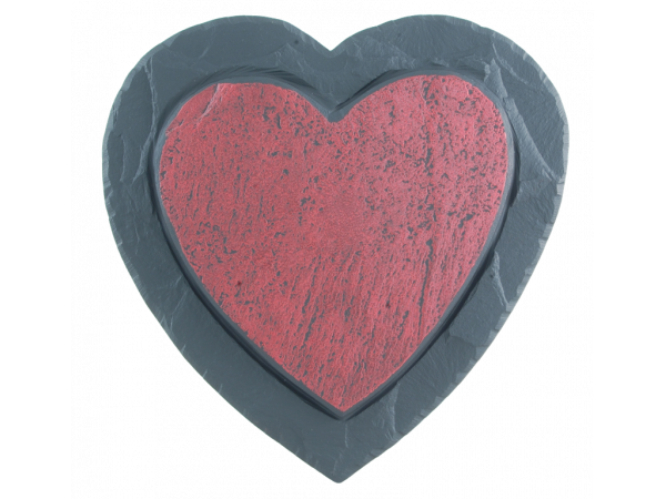 Slate Red Heart