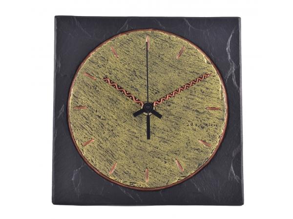 "Square 7½"" Clock Round Inside"