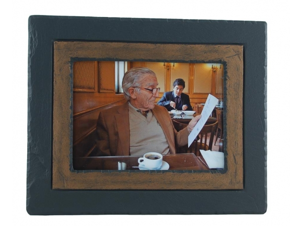 Photo Frame Slate Brown Band