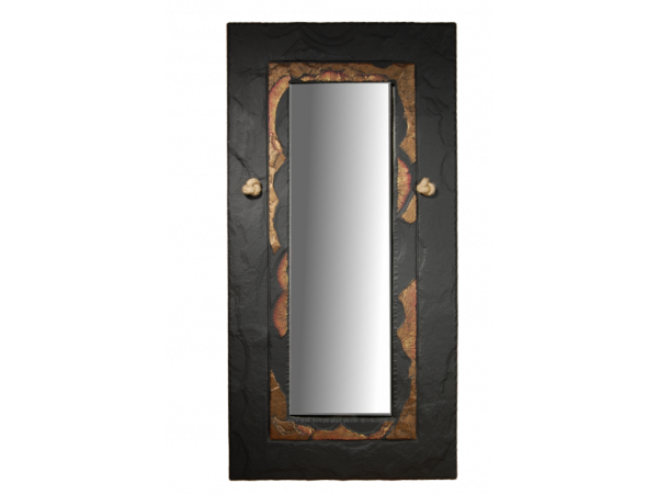 Slate Mirror Gold Edge