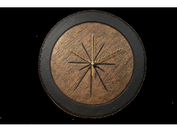 "Slate Round Clock 7½"" Bronze Inside"