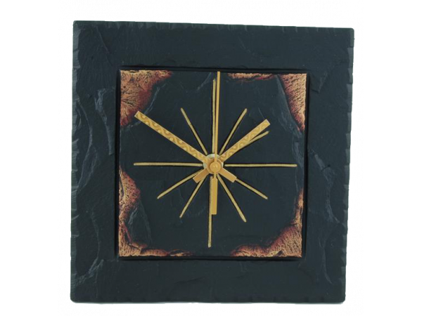 "Square 7½"" Clock Border Gold Edge"