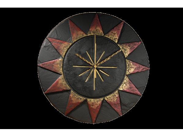 "Slate Sun Clock 11½"""