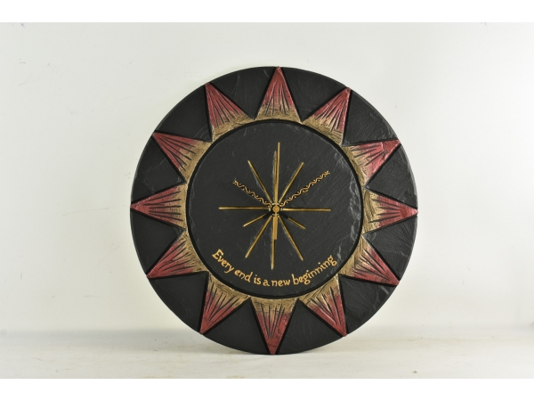 slate-sun-clock-wiht-personalised-note