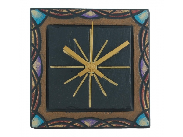 "Square 5"" clock celtic border"