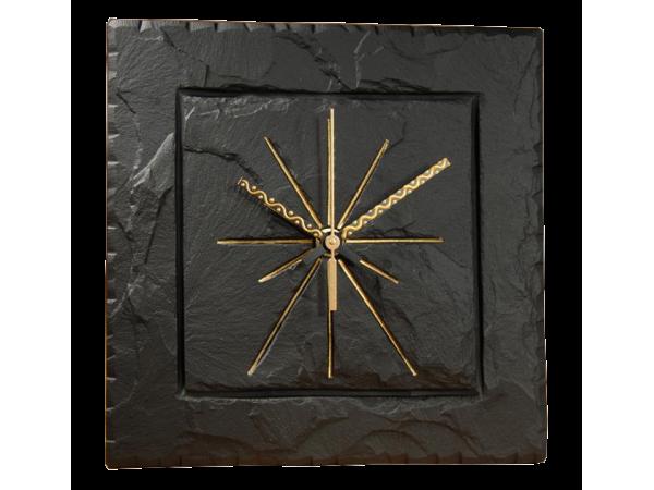 """Square 7½"""" clock black"""