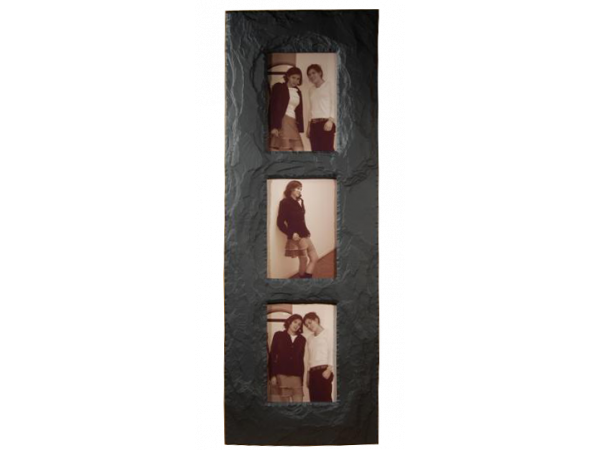 "Slate Triple Photo Frame 7""x 5"" Portrait in Portrait"