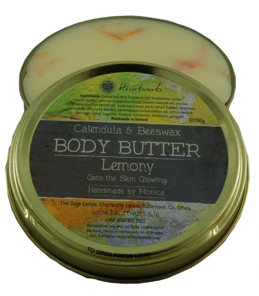 lemon scented natural body butter