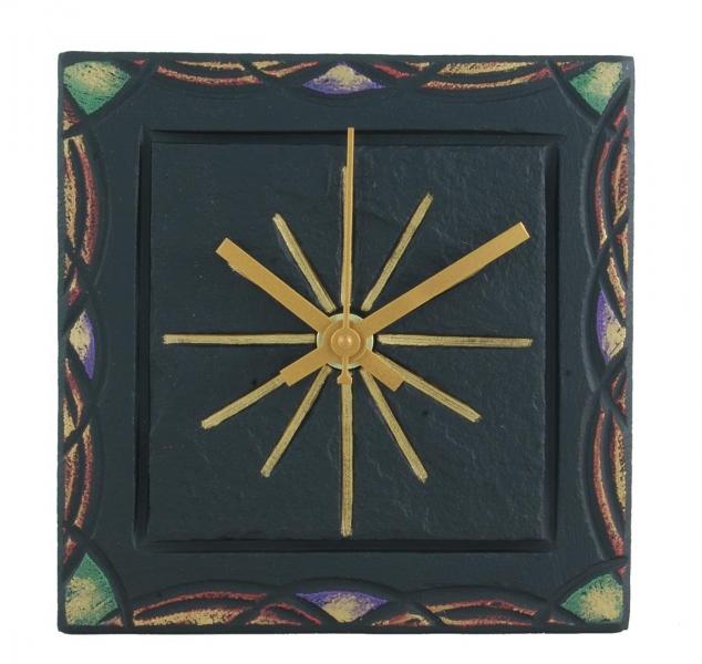 celtic border on 5 inch slate clock