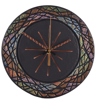 Ornate handmade slate clock