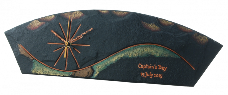 captain's prize slate clock free standing