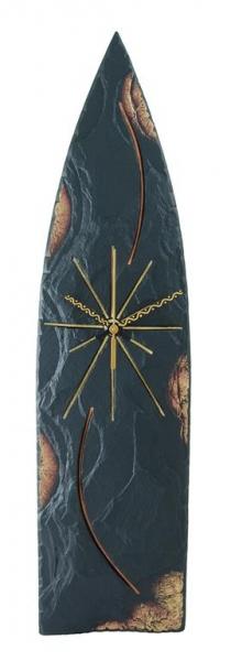 Gothic slate clock gold edge
