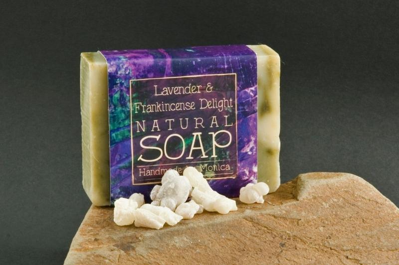 natural soap frankincense and lavender