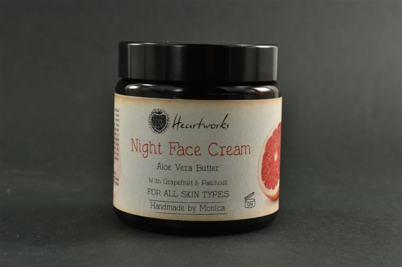 Night Face Cream for All Skin Types Aloe Butter