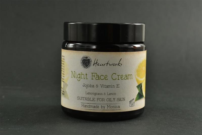 Night Face Cream for Oily Skin Lemon.