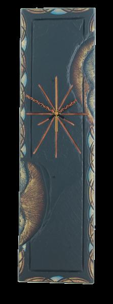 rectangular blue celtic border clock.