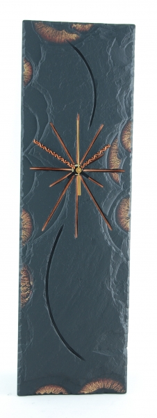 slate gold edge clock rectangular