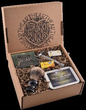 rosemary & nettle shaving gift set deluxe (b)